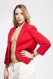 红色夹克 库存图片
