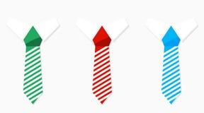 红色套色的领带青绿和 图库摄影