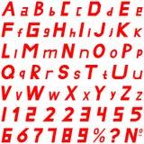 红色字体强的倾斜的样式手工为商务使用 库存照片