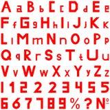 红色字体强的样式手工为商务使用 库存图片