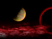 红色宇宙 库存照片