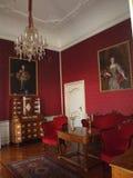 红色室在Festetics宫殿, Keszthely 库存图片