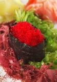 红色寿司tobiko 免版税库存照片