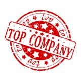 红色封印- Top Company 免版税库存图片