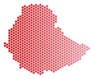 红色小点埃塞俄比亚地图 库存例证