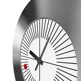 红色小点时钟-透视图 免版税库存照片
