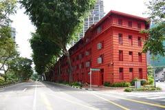 红色小点设计博物馆在新加坡 免版税库存图片
