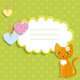 红色小猫-例证,  免版税库存照片