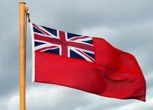 红色少尉旗子 库存照片