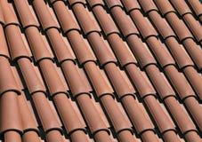 红色屋顶盖瓦 库存图片