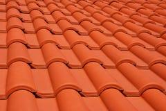 红色屋顶纹理瓦片 免版税库存图片