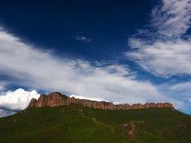 红色山上面, 免版税库存照片