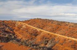 红色山在科罗拉多 免版税库存图片