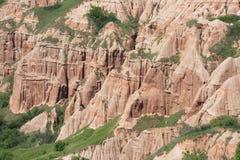 红色山沟的特写镜头从Sebes,罗马尼亚的 库存照片