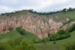 红色山沟 库存图片