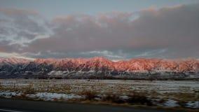 红色山 库存照片