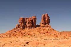 红色岩层在北新墨西哥 库存照片