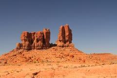 红色岩层在北新墨西哥 免版税库存图片