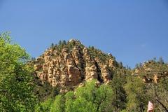 红色岩层在Sedona亚利桑那 库存图片