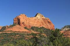 红色岩层在Sedona亚利桑那 免版税库存照片