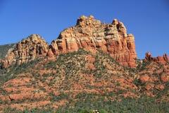 红色岩层在Sedona亚利桑那 免版税库存图片