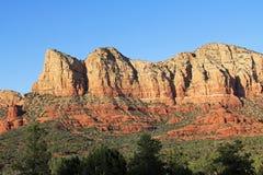 红色岩层在Sedona亚利桑那 图库摄影
