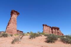 红色岩层 库存图片