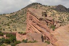 红色岩石公园风景在科罗拉多 免版税库存图片