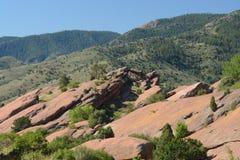 红色岩石公园马礼逊科罗拉多 库存照片
