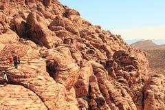 红色岩石国家公园岩层 免版税库存照片
