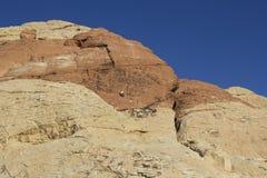 红色岩石国家公园登山人 库存照片