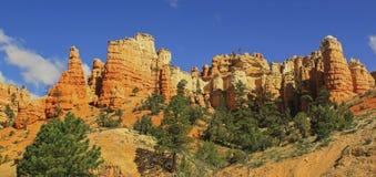 红色岩石在宰恩国家公园,犹他,美国 免版税图库摄影