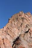 红色岩石在神科罗拉多的庭院里 免版税图库摄影