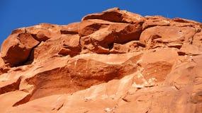 红色岩石山关闭亚利桑那 库存照片