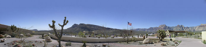 红色岩石峡谷全国保护地区总部 库存图片
