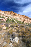 红色岩石峡谷全国保护地区 免版税库存图片