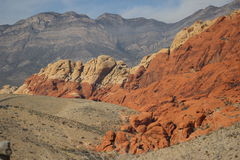 红色岩石峡谷拉斯维加斯内华达 免版税库存照片