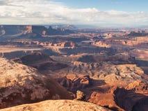 红色岩石峡谷沙漠远景  免版税库存照片