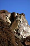 红色岩石峭壁 库存图片
