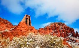 红色岩石教会 库存图片