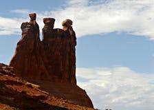 红色岩石横向 免版税库存照片