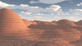 红色岩石沙漠 向量例证