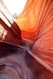 红色岩石漩涡 库存图片