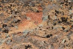 红色岩石纹理 免版税库存图片