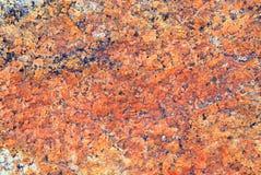 红色岩石纹理 免版税库存照片