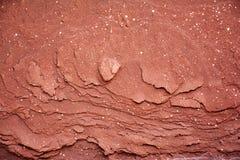 红色岩石边缘–自然纹理 免版税库存照片