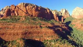 红色岩石风景在亚利桑那 股票录像