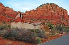 红色岩石风景在Sedona,亚利桑那,美国 免版税库存照片