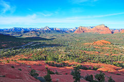 红色岩石风景在Sedona,亚利桑那,美国 库存照片
