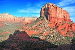 红色岩石风景在Sedona,亚利桑那,美国 库存图片
